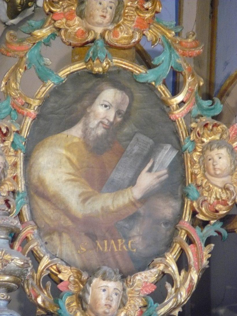 Hauteville-Gondon : saint Marc - détail du retable majeur.