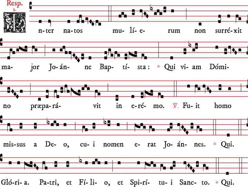 Répons Inter natos mulierum - ton 1 - Nativité de saint Jean Baptiste, rit parisien.