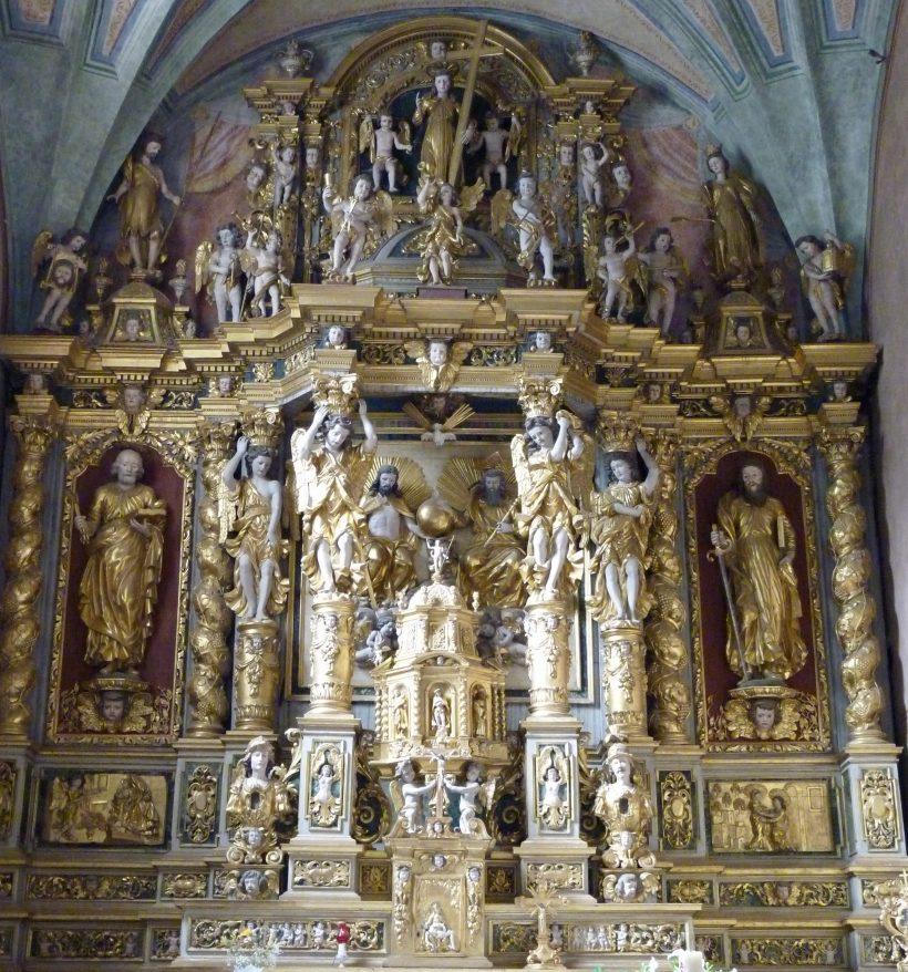 Peisey-Nancroix : retable du maître-autel.