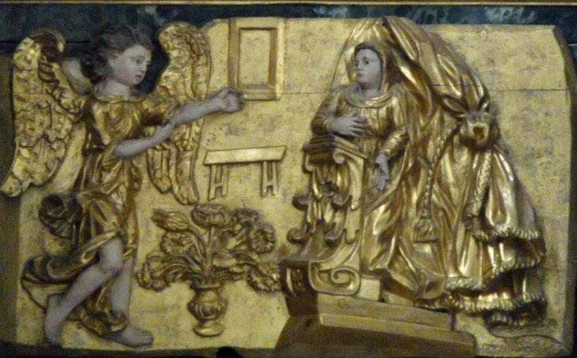 Peisey-Nancroix : retable du maître-autel : l'Annonciation.