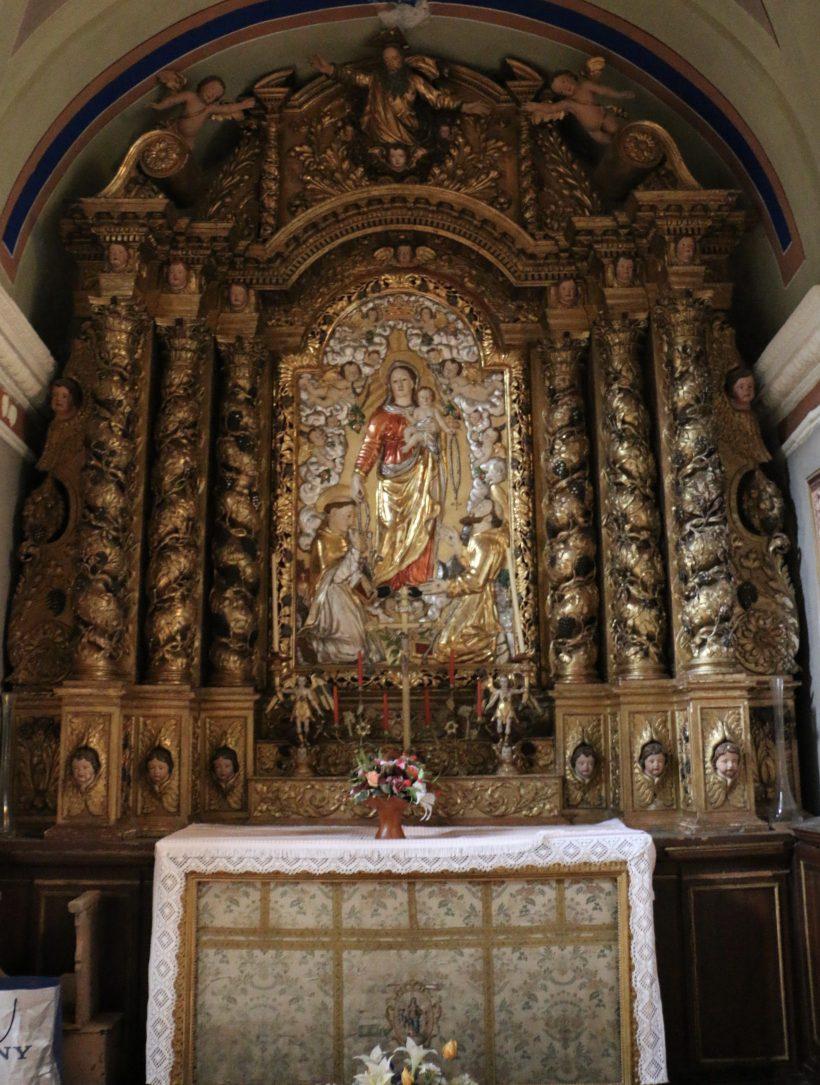 Termignon - église Notre-Dame de l'Assomption - retable de l'autel du Rosaire