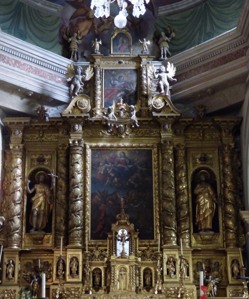 Termignon - église Notre-Dame de l'Assomption - le retable du maître-autel.