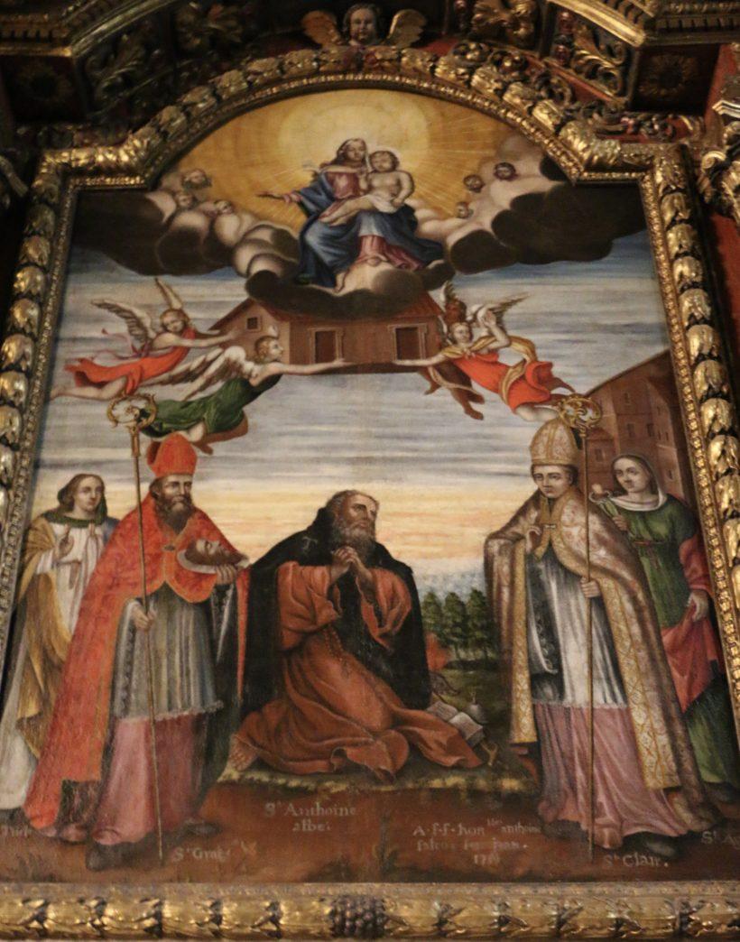 Notre-Dame de l'Assomption à Valloire :  le retable de l'autel de saint Antoine.