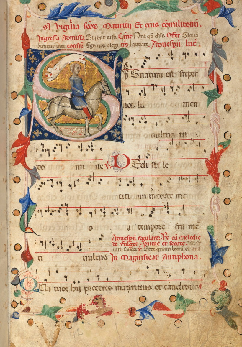 Antiphonaire ambrosien du XIVème siècle. Houghton Library, Harvard University, Cambridge.