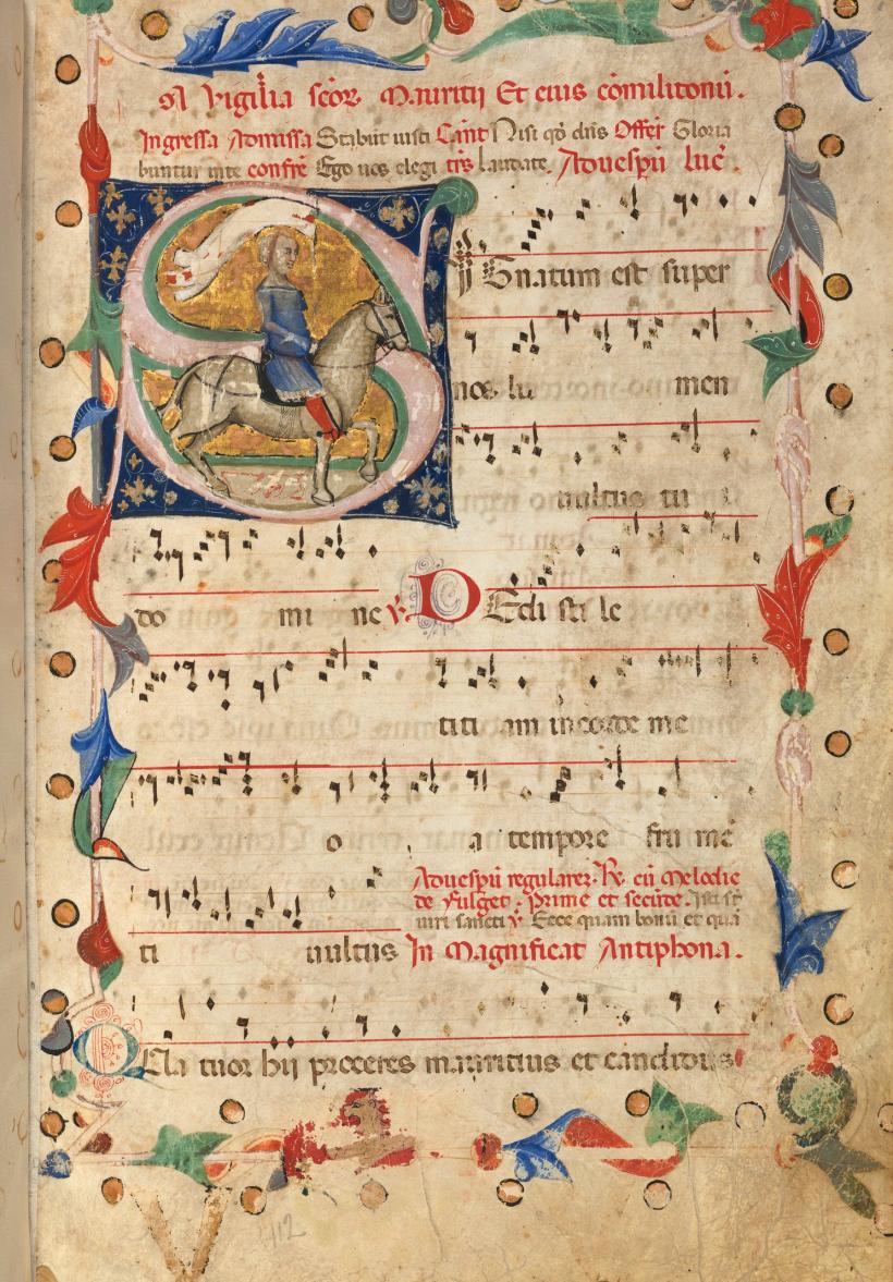 Antiphonaire ambrosien du XIVème siècle. Houghton Library, Harvard University, Cambridge.