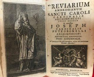 Breviarium Ambrosianum : bréviaire ambrosien , édition de 1764 qui suit l'édition de saint Charles Borromée