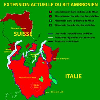 Extension actuelle du rit ambrosien