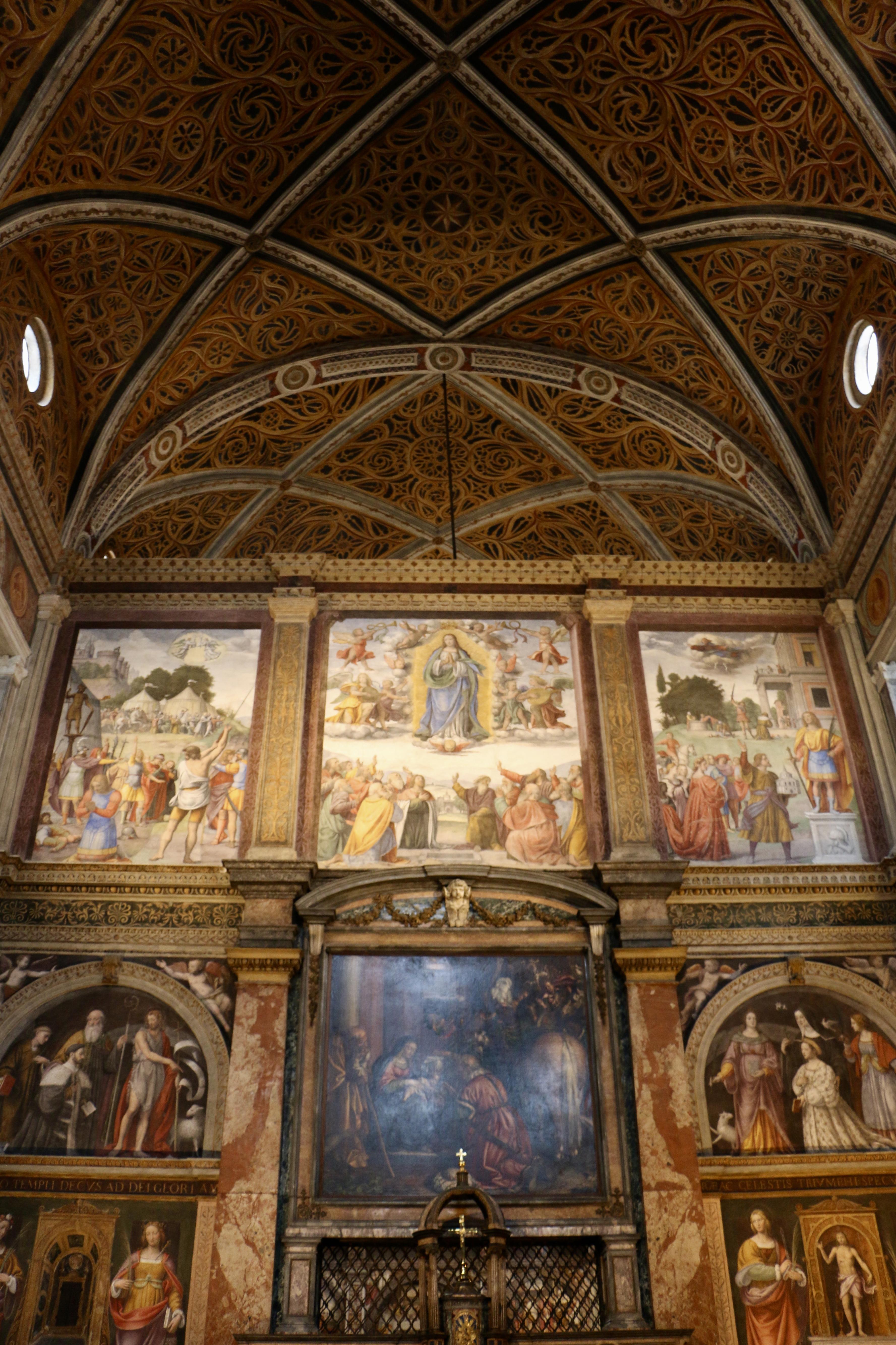 San Maurizio al Monastero Maggiore : la cloison peinte par Bernardino Luini