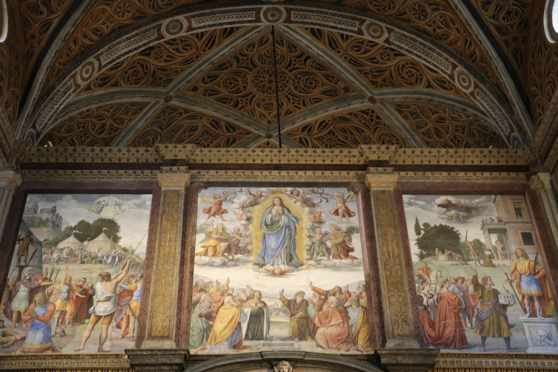 San Maurizio al Monastero Maggiore : la cloison peinte par Bernardino Luini, le registre supérieur