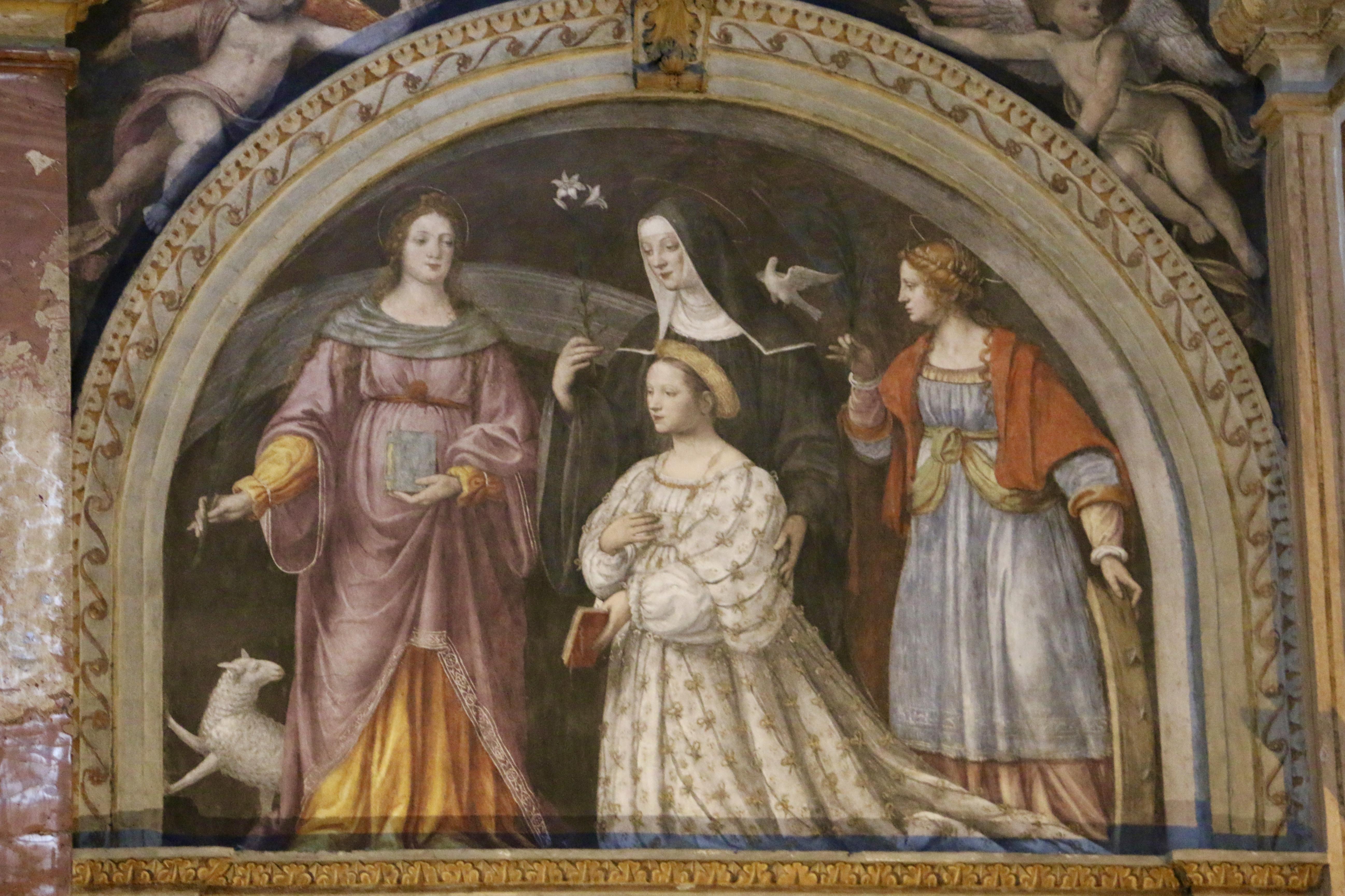 San Maurizio al Monastero Maggiore : la lunette d'Ippolita Sforza