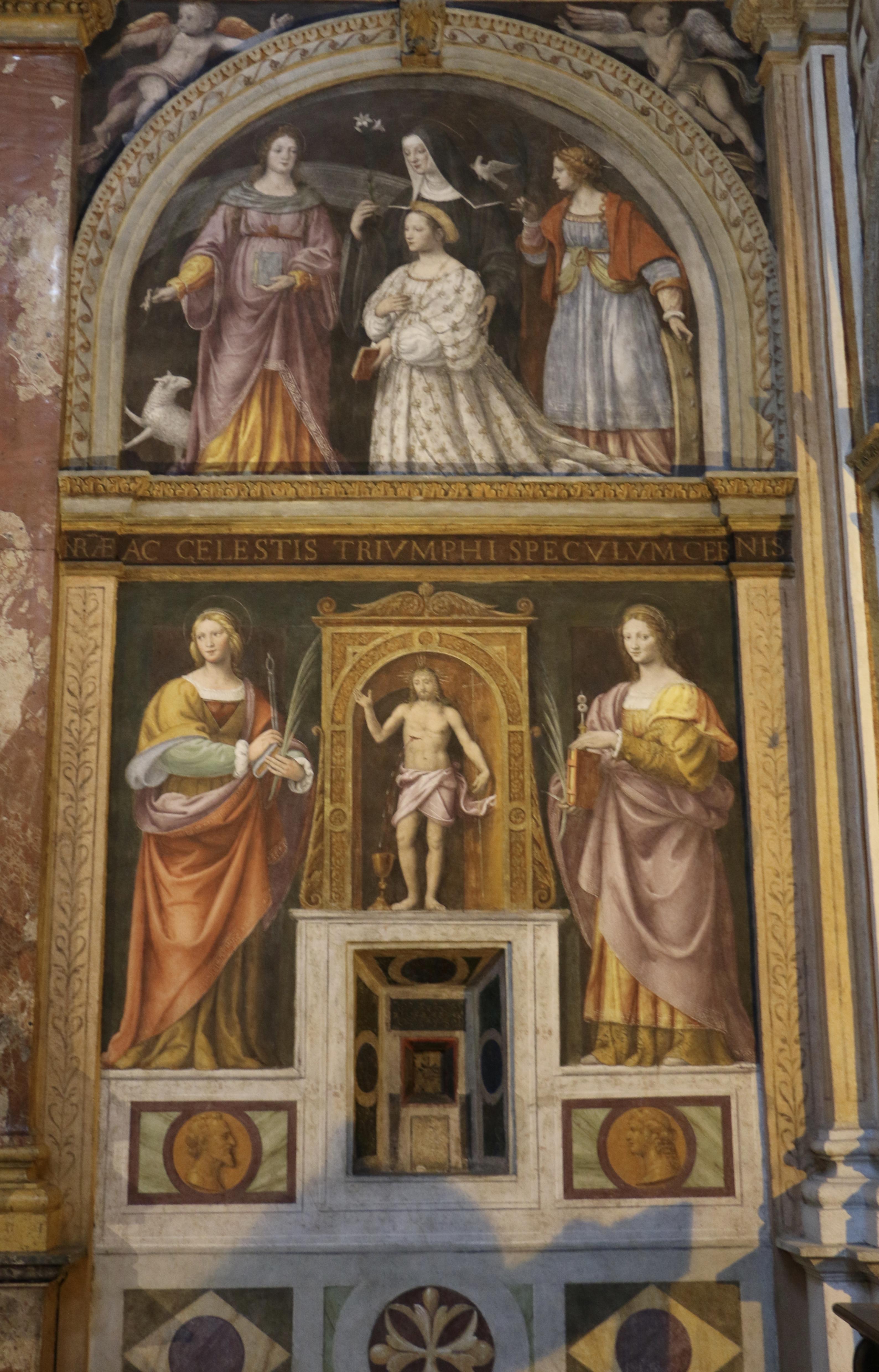 San Maurizio al Monastero Maggiore : l'ouverture permettant aux moniales de recevoir la sainte communion