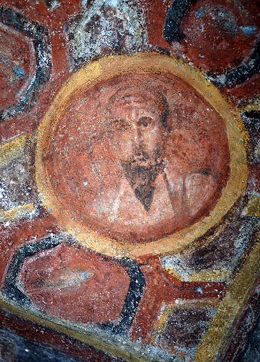 Plus ancien portrait de saint Paul - catacombe de sainte Thècle à Rome.