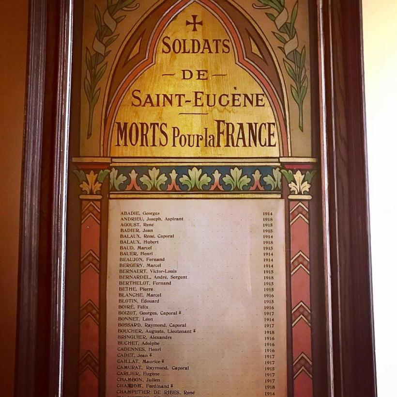Les morts pour la France de Saint-Eugène