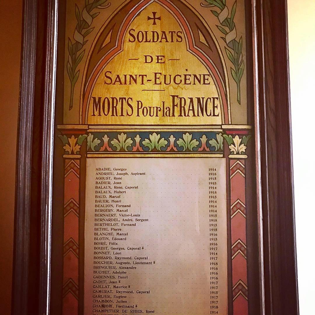Resultado de imagen de saint-eugène morts pour la france