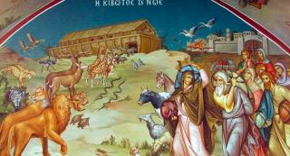 Le déluge : Noé entre dans l'Arche