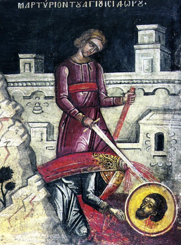 Le martyre de saint Isidore de Chios.