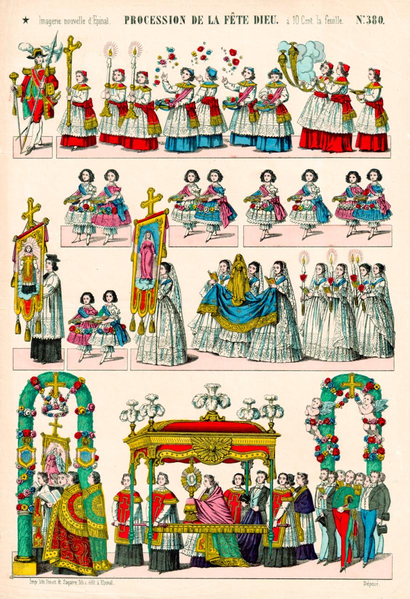 Procession de la Fête-Dieu - Imagerie d'Epinal