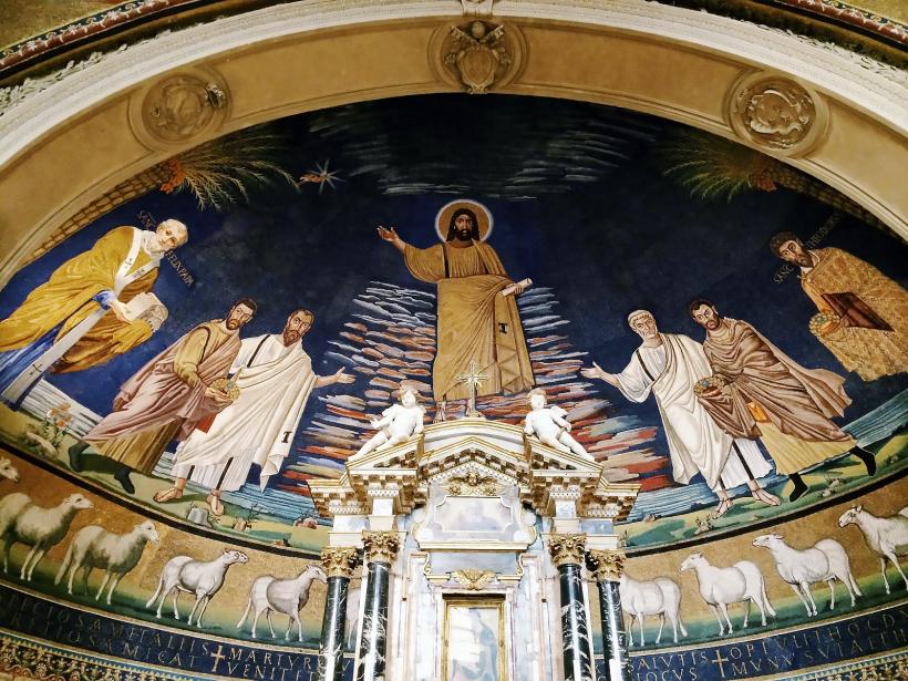 Abside de l'église Saint-Côme-Saint-Damien à Rome.