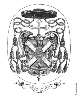 Armes de Mgr Athanasius Schneider, évêque titulaire de Celerina, évêque auxiliaire de Sainte-Marie d'Astana