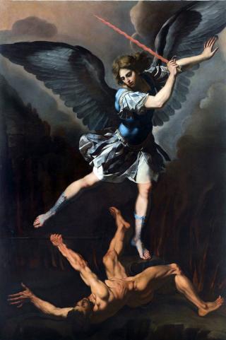 Francesco Cozza (1605 † 1682) - saint Michel combattant le diable - circa 1650, musée de la Ville de Rome