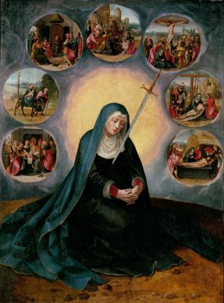 Notre Dame des 7 Douleurs - Anonyme du XVIème s.