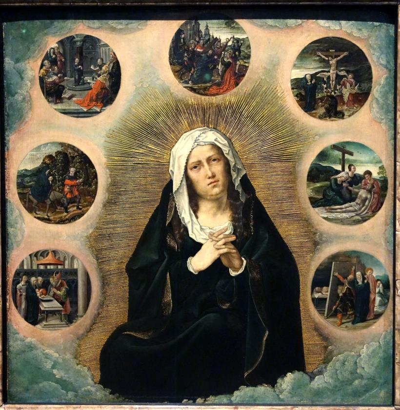 Notre Dame des 7 Douleurs par Bernard van Orley (1491 † 1542)