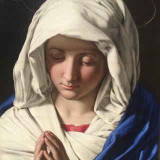 La Vierge Marie par Giovani Battista Salvi Sassoferrato, c. 1640. Académie Carrara de Bergame