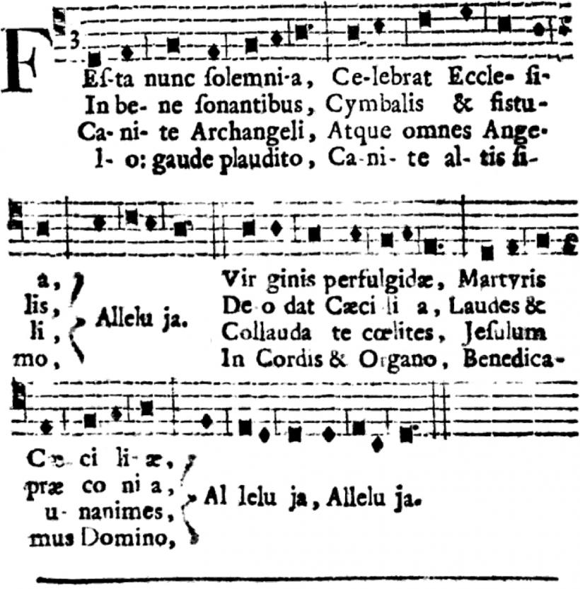 Festa nunc solemnia - motet à sainte Cécile en plain-chant musical