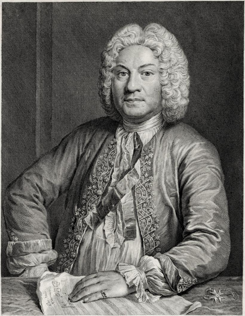 François Couperin le Grand (1668 † 1733), organiste du Roi et de Saint-Gervais, chevalier pontifical de l'ordre du Latran