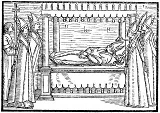 Requiem des Evêques de Langres du chanoine Couturier - les cinq évêques des cinq absoutes