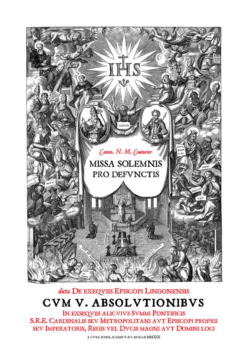 Messe de Requiem des Evêques de Langres du chanoine Couturier - frontispice