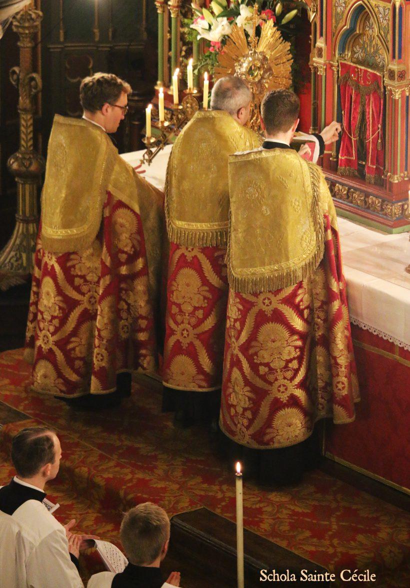 Fêtes patronales 2019 - Secondes vêpres de la solennité de saint Eugène - au début du salut du Très-Saint Sacrement.