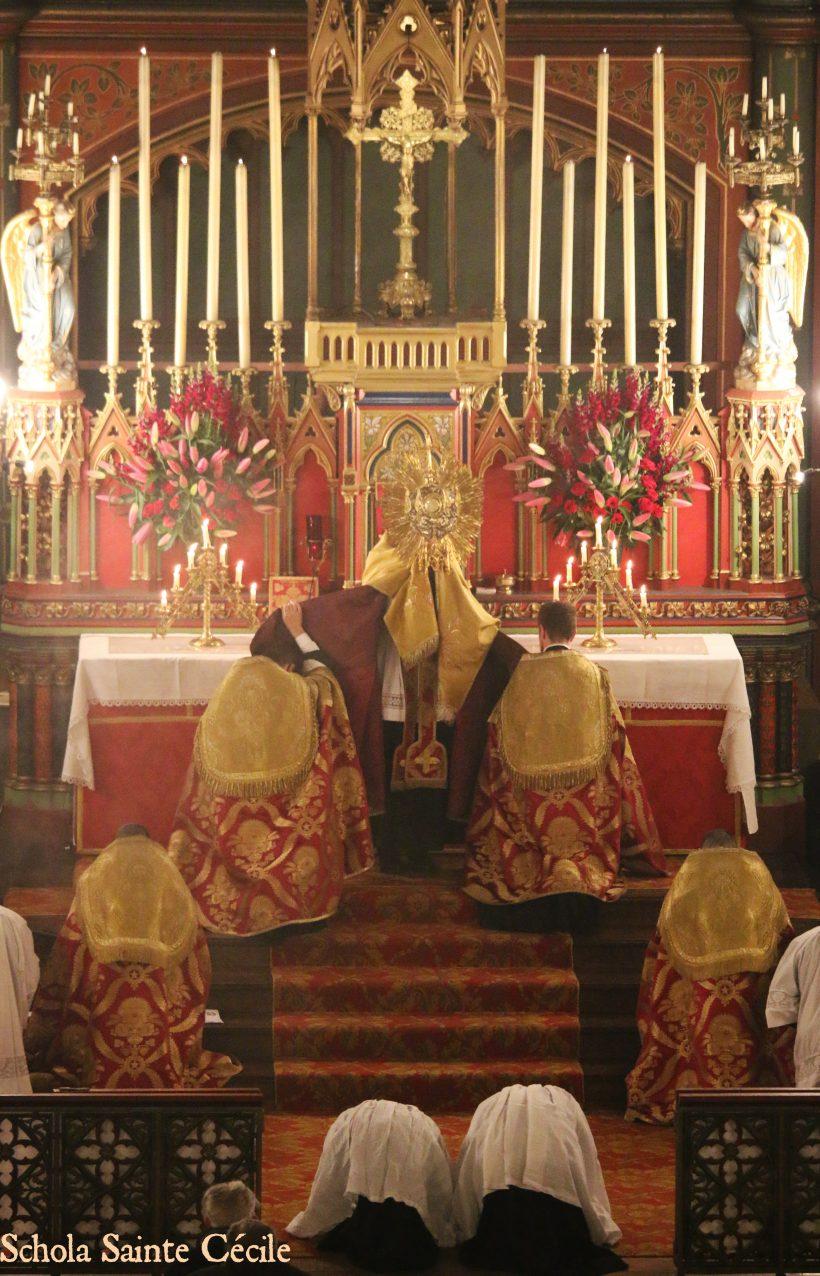 Fêtes patronales 2019 - Secondes vêpres de la solennité de sainte Cécile - bénédiction du Très-Saint Sacrement.