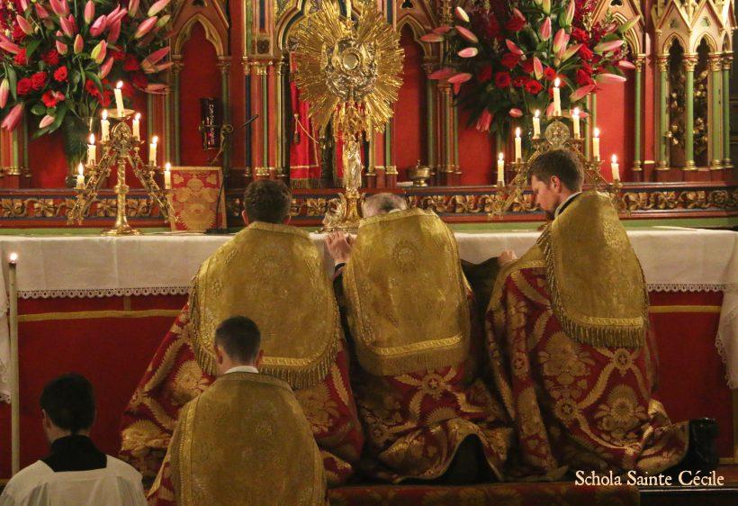 Fêtes patronales 2019 - Secondes vêpres de la solennité de sainte Cécile - au salut du Très-Saint Sacrement.