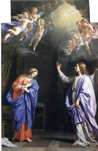 Messe d'Or du Mercredi des Quatre-Temps de l'Avent - L'Annonciation par Philippe de Champaigne