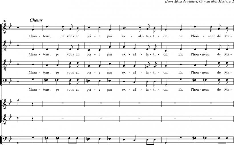 Or nous dites Marie - début du premier chœur
