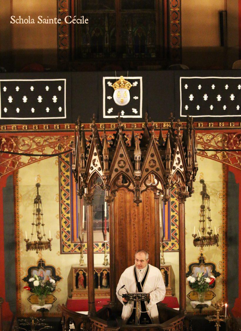 Requiem pour Louis XVI : la prédication en chaire de M. le Chanoine Guelfucci