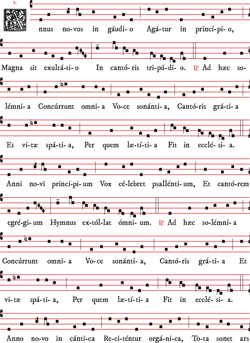 Annus novus in gaudio - versus pour l'an nouveau