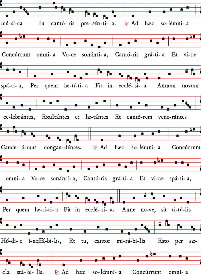 Annus novus in gaudio - versus pour l'année nouvelle