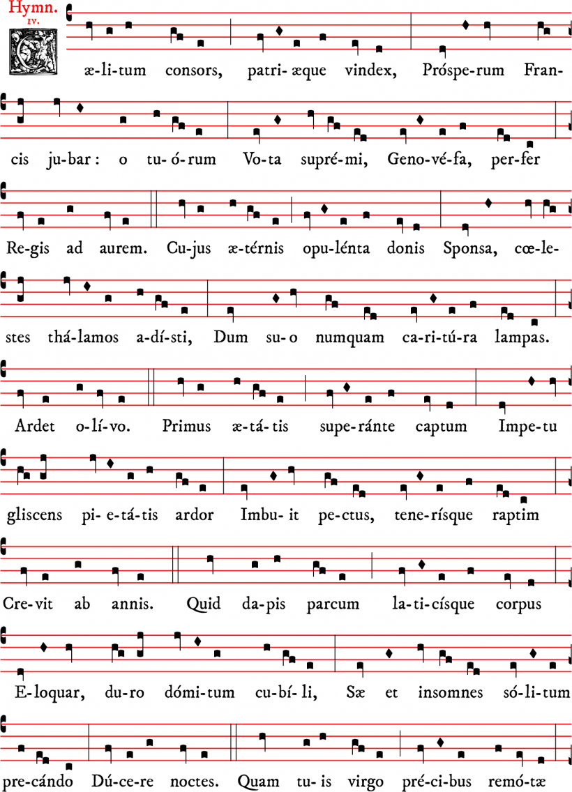 Cælitum consors - Hymne de sainte Geneviève
