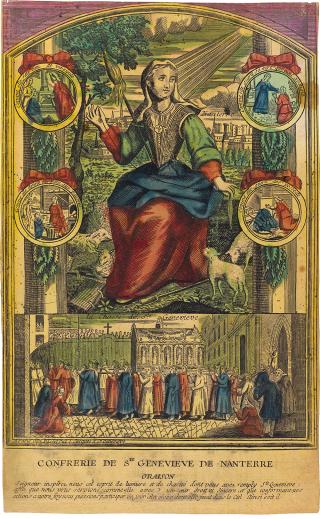 Sainte Geneviève - image de la confrérie de Nanterre