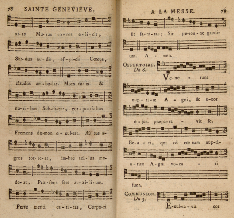 Virgo decus Patriæ - séquence de sainte Geneviève propre à Saint-Etienne-du-Mont