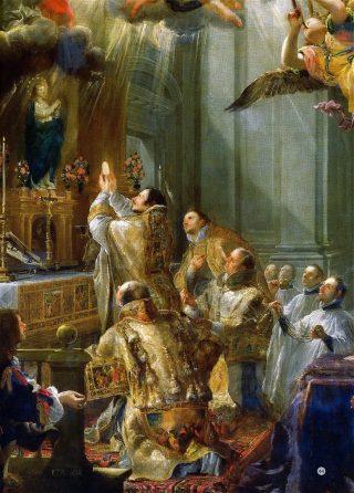 La première messe de saint Jean de Matha - Musée du Louvre (détail)