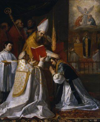 Vicente Carducho - Ordination & première messe de saint Jean de Matha avec la vision de l'Ange