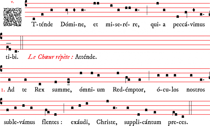 Attende Domine - plain-chant parisien
