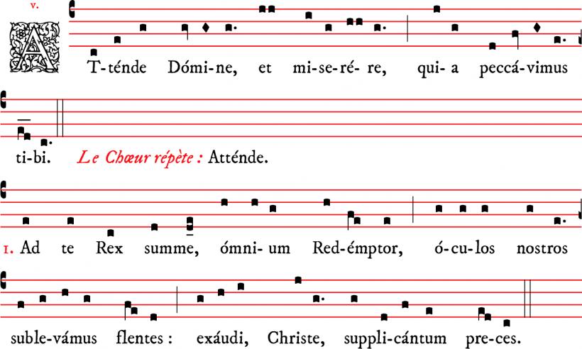 Attende Domine - plain-chant parisien