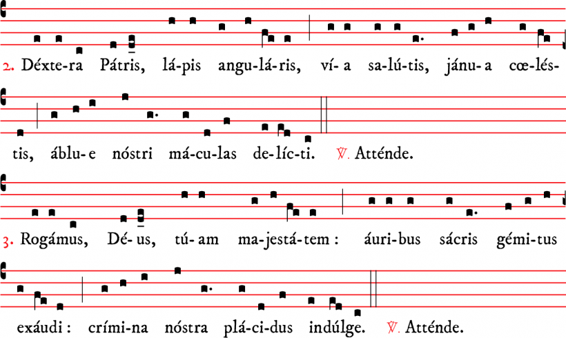 Attende Domine - plain-chant parisien - versets 2 & 3