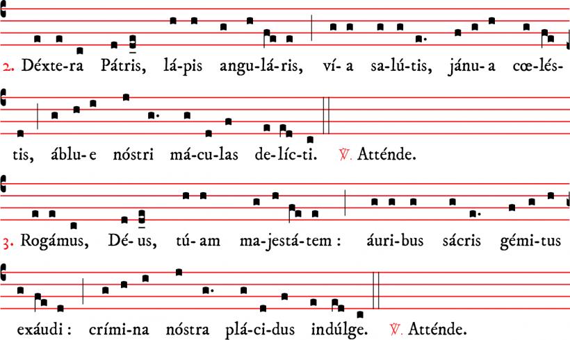 Attende Domine - plain-chant parisien - versets 2 & 3