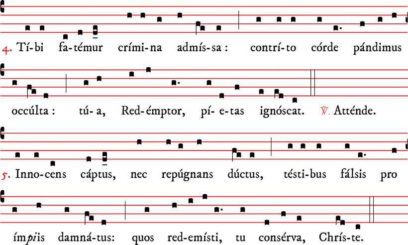 Attende Domine - plain-chant parisien - versets 4 & 5