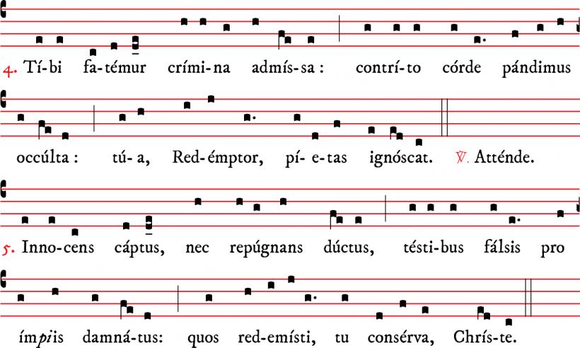 Attende Domine - plain-chant parisien - versets 4 & 5